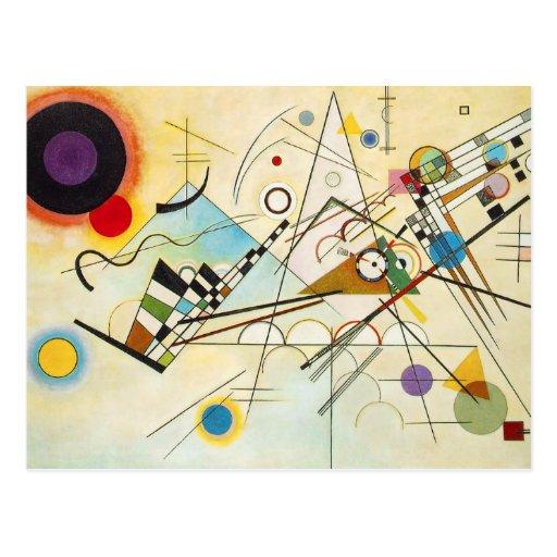 Carte postale de la composition VIII en Kandinsky