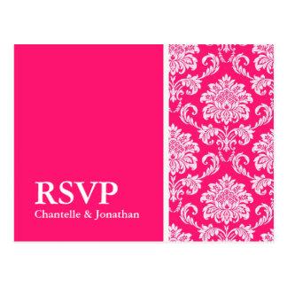 Carte postale de la damassé RSVP de roses indien
