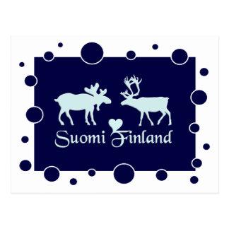 Carte postale de la Finlande