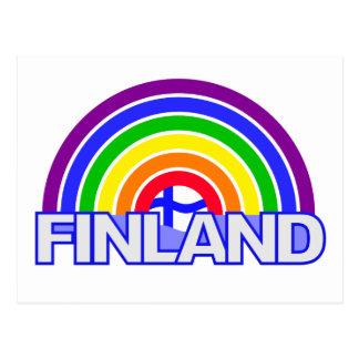 Carte postale de la Finlande d'arc-en-ciel