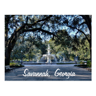 Carte postale de la Géorgie de la savane de parc