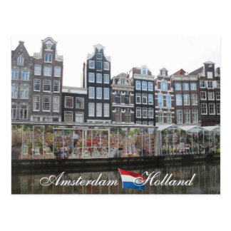 Carte postale de la Hollande du marché de fleur