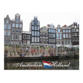 Carte postale de la Hollande du marché de fleur d'