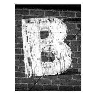 Carte postale de la lettre B
