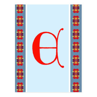 Carte postale de la lettre E