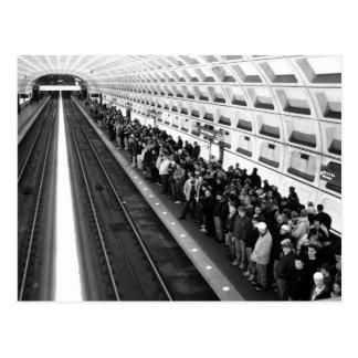 Carte postale de la métro B&W