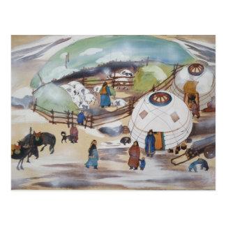 Carte postale de la Mongolie