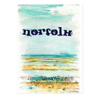 Carte postale de la Norfolk