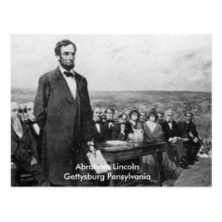 Carte postale de la Pennsylvanie Abraham Lincoln