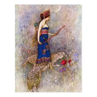 Carte postale de la Reine de léopard