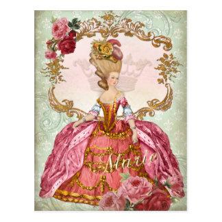 Carte postale de la Reine de Marie Antoinette
