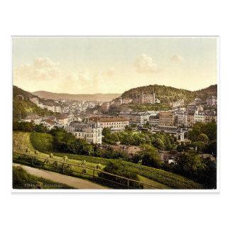 Carte Postale De la rue de Bellevue, Carlsbad, Bohême, Austr