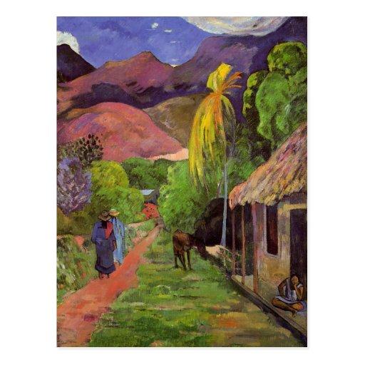 """Carte postale de la """"rue De Tahiti"""" - Paul Gauguin"""