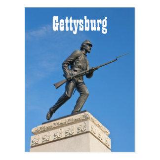 Carte postale de la statue I de Gettysburg