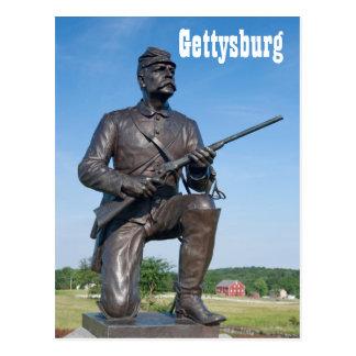 Carte postale de la statue II de Gettysburg