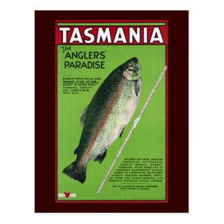 Carte Postale ~ de la Tasmanie le paradis du pêcheur à la ligne