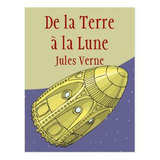 Carte Postale De la Terre à la Lune - Jules Verne
