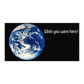 Carte postale de la terre photocartes personnalisées