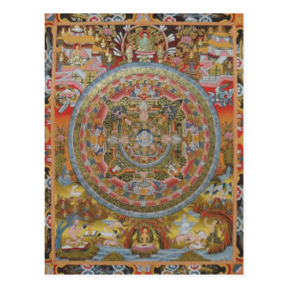 Carte postale de la vie de Bouddha