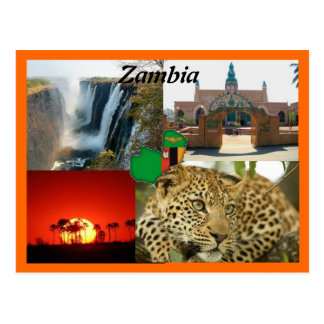 Carte postale de la Zambie