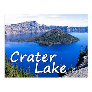 Carte postale de lac crater