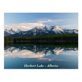 Carte postale de lac herbert, Alberta, Canada