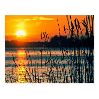 Carte postale de lac sunset