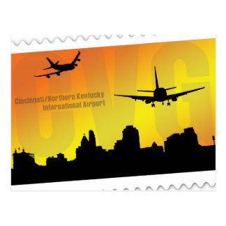 Carte postale de l'aéroport CVG de Cincinnati