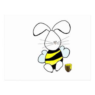Carte postale de lapin de miel