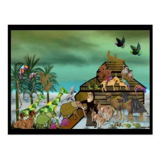 Carte postale de l'arche de Noé