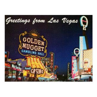 Carte postale de Las Vegas de fin des années 1950