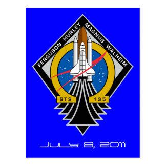 Carte postale de l'Atlantide de navette spatiale