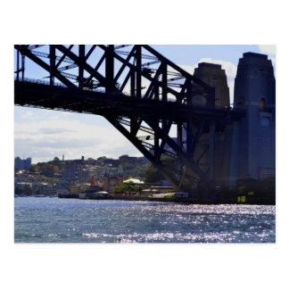 Carte postale de l'Australie de pont de port de