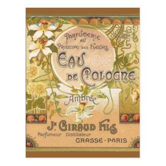 Carte postale de l'Eau de Cologne Ambree