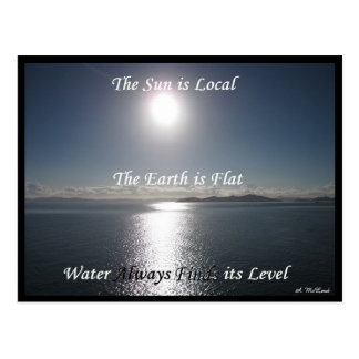 Carte postale de l'eau de la terre de Sun - la