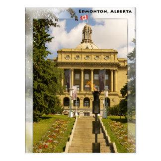 Carte postale de législature d'Edmonton Alberta