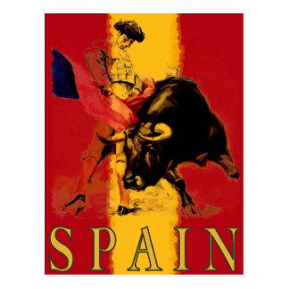 Carte postale de l'Espagne avec la corrida vintage