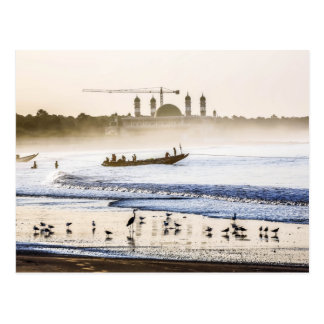 Carte postale de lever de soleil de la Gambie