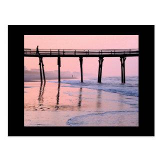 Carte postale de lever de soleil de pilier