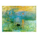 Carte postale de lever de soleil d'impressionisme