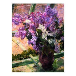 Carte postale de lilas de Mary Cassatt