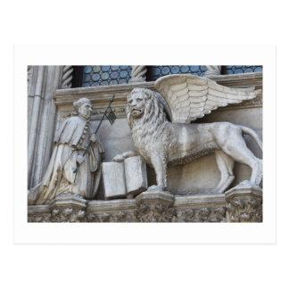 Carte postale de lion de Venise