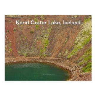 Carte postale de l'Islande de cratère de Kerid