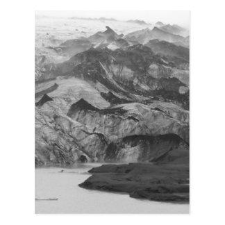 Carte postale de l'Islande de glacier de