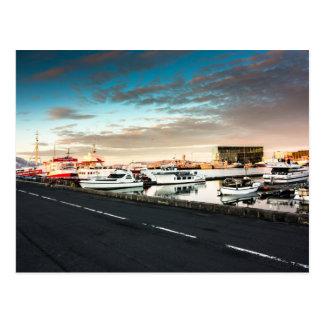 Carte postale de l'Islande de marina de Reykjavik