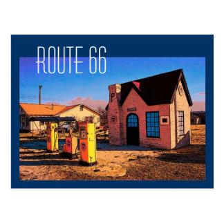 Carte postale de l'itinéraire 66