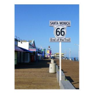 Carte postale de l'itinéraire 66 de Santa Monica !