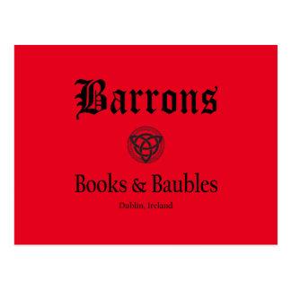 Carte postale de livres et de babioles de Barrons