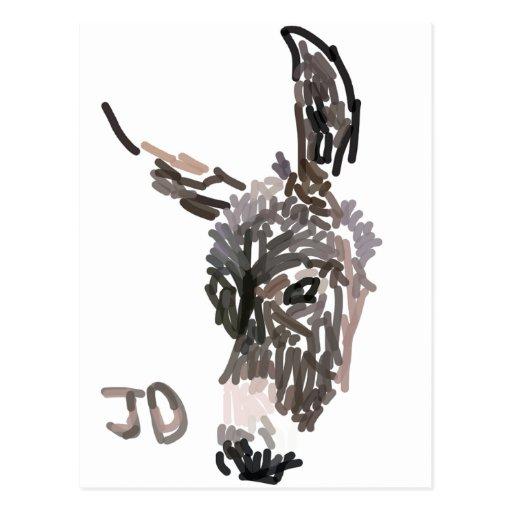 Carte postale de logo de JustDonkeys
