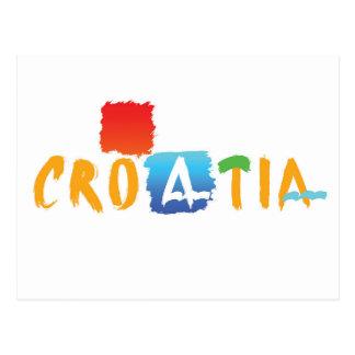 Carte postale de logo de la Croatie